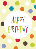GLMS Minicard: GNT014 Happy Birthday Dots